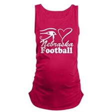 Eye Love Nebraska Football Maternity Tank Top