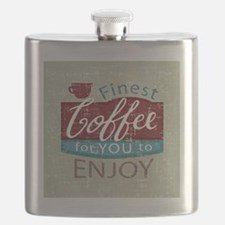retro style coffe shop advert Flask