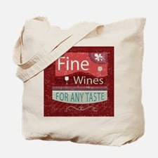 retro vintage style wine shop design Tote Bag