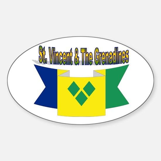 St Vincent & The Grenadines Sticker (oval)