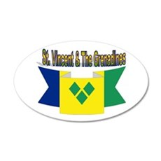 St Vincent & The Grenadines 35x21 Oval Wall De