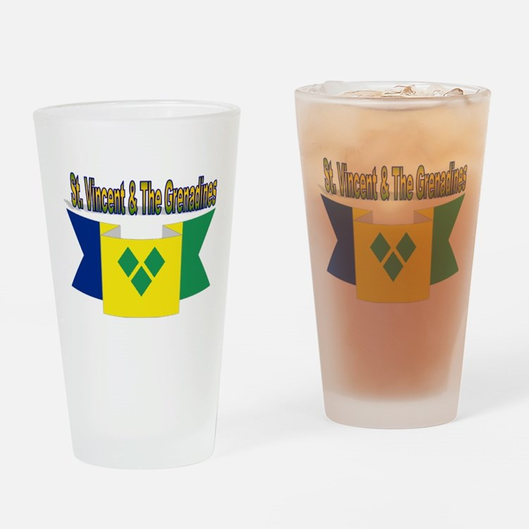St Vincent & The Grenadines Drinking Glass