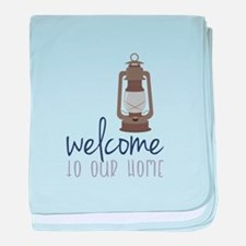 Welcome baby blanket