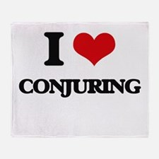 I love Conjuring Throw Blanket