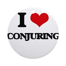 I love Conjuring Ornament (Round)