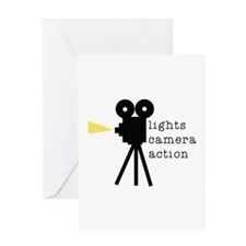 Camera Action Greeting Cards