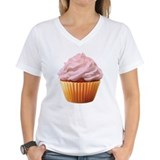 Cream filled Womens V-Neck T-shirts