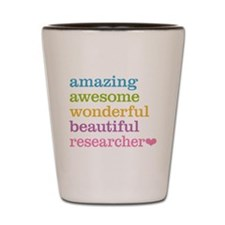 Awesome Researcher Shot Glass