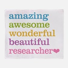 Awesome Researcher Throw Blanket