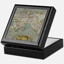 Vintage Map of The Kingdom of Naples Keepsake Box