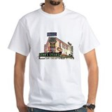 Genos steaks Mens White T-shirts