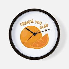 Orange You Glad Wall Clock