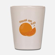 Orange You Glad Shot Glass
