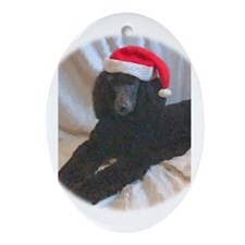 Standard Poodle Oval Ornament