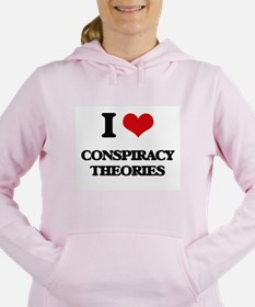 I love Conspiracy Theori Women's Hooded Sweatshirt