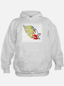 Eagle Landing Flames Hoodie