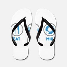 Eat Sleep Mix Flip Flops