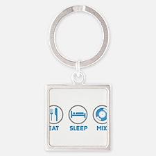 Eat Sleep Mix Keychains