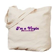 Im A Virgin This Is An Old Shirt Tote Bag