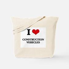 I love Construction Vehicles Tote Bag