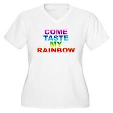 Come Taste My Rainbow Plus Size T-Shirt