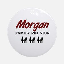 Morgan Family Reunion Ornament (Round)