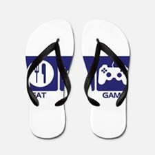 Eat Sleep Game Flip Flops