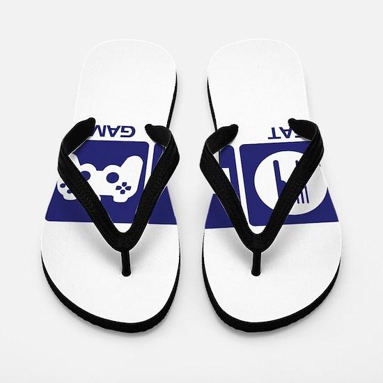 Eat Sleep Game Flip Flops