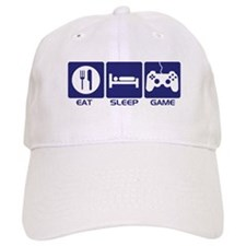 Eat Sleep Game Baseball Cap