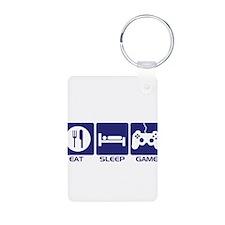 Eat Sleep Game Keychains