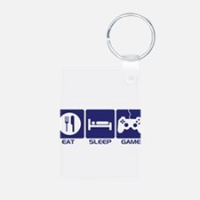 Eat Sleep Game Keychains