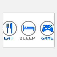 Eat Sleep Game Postcards (Package of 8)