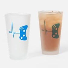 Gamer Heartbeat Drinking Glass