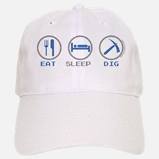 Eat Sleep Game Dig Baseball Baseball Cap