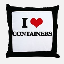 I Love Containers Throw Pillow
