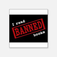 """Cute Read banned books Square Sticker 3"""" x 3"""""""