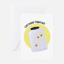Catching Fireflies Greeting Cards