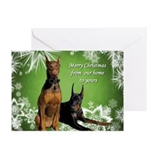 Doberman Pinscher Christmas (pk Of Greeting Cards