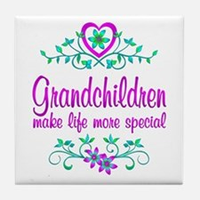 Special Grandchildren Tile Coaster