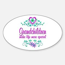 Special Grandchildren Sticker (Oval)