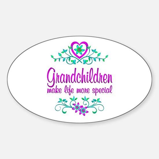 Special Grandchildren Sticker (Oval)