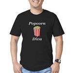 Popcorn Diva Men's Fitted T-Shirt (dark)