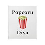 Popcorn Diva Throw Blanket