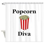 Popcorn Diva Shower Curtain