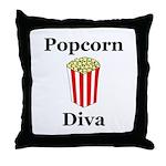 Popcorn Diva Throw Pillow