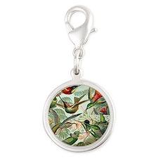 Ernst Haeckel Hummingbirds Silver Round Charm