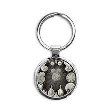 Ernst Haeckel Thalamphora Round Keychain