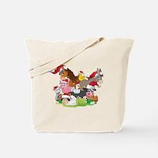 CUTE Farm Animal Christmas Tote Bag