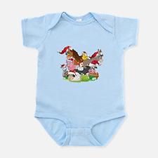 CUTE Farm Animal Christmas Infant Bodysuit