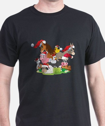 CUTE Farm Animal Christmas T-Shirt